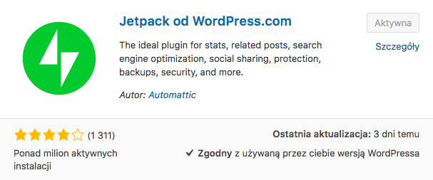 Jetpack z WordPress.com