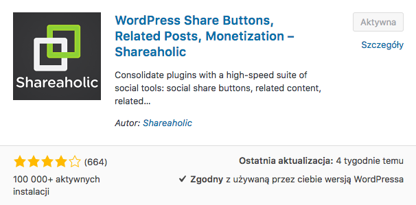 Shareaholic | share buttons, analytics, related posts